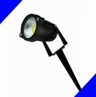 Wholesale Led Outdoor Ground Flood Light - 5W 7W COB LED Garden Lawn light lamps LED ground lamps With Base Holder Outdoor flood light Decorate Waterproof Free shipping