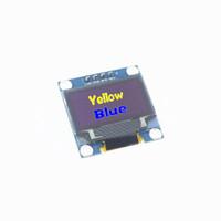 iic-modul großhandel-Großhandels-Freies Verschiffen 0.96 Zoll 128X64 OLED Anzeigemodul für Arduino 0.96 IIC SPI kommunizieren gelbes Blau