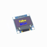 Wholesale Iic Spi - Wholesale-Free Shipping 0.96 inch 128X64 OLED Display Module For arduino 0.96 IIC SPI Communicate yellow blue
