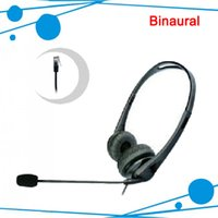 Wholesale Telephone Headset Corded Phones - Call center headphons binaural office phone headset for call center call center phone headsets call center headset telephone with RJ09 Plug