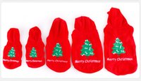 Wholesale Pet Santa - Christmas dog Apparel Clothes Pet Puppy Dog Santa Claus Costumes Outwear for Small pet Thick Coat Apparel Dog clothing Free Shipping