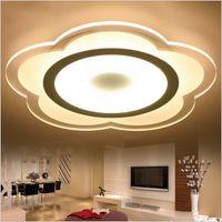 Wholesale lotus ceiling lamp - Super-thin Lotus Ceiling lights indoor lighting led luminaria abajur modern led ceiling lights for living room lamps fixture