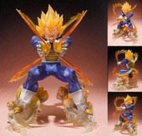 Wholesale Dragon Ball Z Pvc - Anime Dragon Ball Z Super Saiyan Vegeta Battle State Final Flash PVC Action Figure Collectible Model Toy 15CM