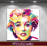 abstrakte kunst gemälde leinwand frei großhandel-Freies Verschiffen handgemachtes modernes abstraktes Ölgemälde auf Segeltuch Kunst-dekorativer Pop-Art Malereien Monroe für Wanddekor