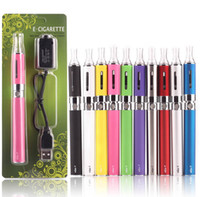 Wholesale h2 vs ce4 resale online - EGO MT3 kit E Cigarette with EGO T Battery MT3 Atomizer vaporizer pen ego cigarette blister kit vs h2 CE4 EVOD MT3