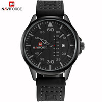 Wholesale Water Week - NAVIFORCE Original Good quality Men's Analog Quartz Waterproof Sport Leather Band Date Week Wrist watch 9074