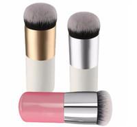 Wholesale Flat Kabuki - Face Blush Pro Flat Foundation Kabuki Powder Contour Makeup Brush Cosmetic Tool