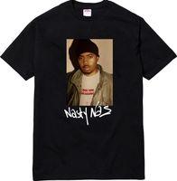 Wholesale T Shirt Emperor - 2017 summer Brand hip hop casual Box logo New York rap emperor Nas character joint portrait tee short sleeve t-shirt men