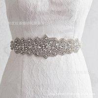 Wholesale Wedding Dress Wholesale Trade - S233 bride girdle handmade Beading crystal belt high-end luxury diamond wedding dresses sashes and accessories trade