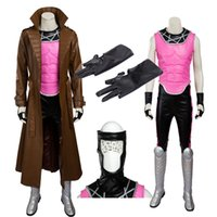 Wholesale Custom Made Armor - The X-MEN Series Gambit Remy Etienne Cosplay Costume Armor Set High Quality Full Set PU Customize