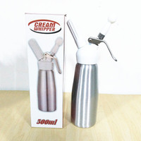 Wholesale Dessert Maker - Free Shipping New 500 ML Metal Whip Coffee, Dessert, Fresh Cream, Butter, Dispenser Whipper Foam Maker
