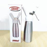 Wholesale Coffee Cream Maker - Free Shipping New 500 ML Metal Whip Coffee, Dessert, Fresh Cream, Butter, Dispenser Whipper Foam Maker