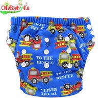 Wholesale Diaper Water - Ohbabyka Baby Toilet Potty Training Pants with Digital Printed Infant Boys And Girls Water Resistant Training Pants 0-3Years