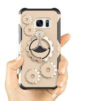 dişli telefonu toptan satış-Samsung S7 S8 Not 8 için spor Kılıf 1 In 1 Hibrid Dişli Ağır Yüksek Darbe Tutucu Darbeye Telefon Kılıfı Kapak