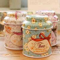 Wholesale Cutting Tool Storage - 2016 new Vintage style flower series tea box, Cut tin box,storage case,organizer, Iron case,storage container