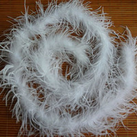 "Wholesale Marabou Ostrich Boa - Ostrich Feather Boa 5pcs lot 200cm(79"") Ostrich Feather Strip Wedding For Party Marabou Feather Boa Scarf Costume Ostrich Feather Strips"