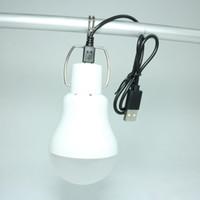 c7 c9 führte glühbirnen großhandel-Portable USB-LED-Lampe Camping Im Freien Licht super hellen 8W 60pcs SMD LED IP65 USB-Lade 6500K CE RoHS