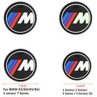 x5 pedler toptan satış-Yüksek qulaity silika jel araba kupası kaymaz ped mat için bmw 1 3 5 7 Serisi F30 F35 320li 316i 328 X1 X3 X5 X6 aksesuarları