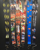 Wholesale Key Id Neck Strap Lanyards - Wholesale Popular Superhero Lanyards Key chain ID Badge Holder Mobile Phone Neck Straps PK-03