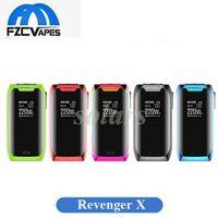Wholesale Button Battery Box - Authentic Vaporesso Revenger X 220W Box Mod with Touch Button OMNI Chip Dual 18650 Battery Vape Mod 100% Original