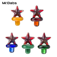 Atacado Colorido UFO Glass Bubble Carb Cap Star Style Dome Quartz Thermal P Banger Nails Dabber Glass Bongs Dab Oil Rigs em mr_dabs