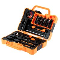 tournevis de kit d'outils informatiques achat en gros de-JAKEMY JM-8139 Jeu de tournevis 45 en 1 précis Kit de réparation Outils d'ouverture pour ordinateur portable Maintenance électronique