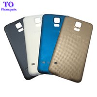 Wholesale Rear Case - Rear Battery Housing Door Back Cover Case for Samsung Galaxy S5 G900 G900A G900H G900F Free Shipping