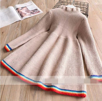 Wholesale Assorted Clothing Wholesale - 2017 Winter Girls Dress High collar assorted colors sweater Dress Children Clothing 2-7T 319547