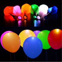 Wholesale 12 Inch Latex Balloons - Halloween Christmas 12 inches Party LED Balloon emulsion balloons bar Decoration Glowing Balloon C2624