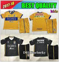 Wholesale Star Boy Shirt - 17 18 kids kits Mexico club Tigres UANL home 5 stars soccer Jersey Kits 2017 GIGNAC GUERRON 3RD Away black child Football Shirts