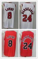 Wholesale Quick Picks - 2018 Free Shipping Embroidery shirts Men Newest Draft Pick Men's #24 Lauri Markkanen Jerseys #8 Zach LaVine Black Red Basketball Jersey