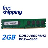 Wholesale Motherboards For Pc - Original chipset ddr2 2gb ram 800mhz memory module PC 6400 for all pc motherboard free shipping DDR2 2GB 800MHZ 240pin 1.8v