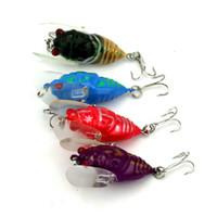 Wholesale Trout Minnow Lures - 4pcs lot Insect Lure Fishing Tackle Lure Bionic Bait Fishing Lure Minnow Crankbait Trout Tackle 4cm 6.4g 4 Color Set Wholesale