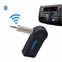 Wholesale Auto Mic - Universal Wireless 3.5mm Car Bluetooth Audio Music Receiver Adapter Auto AUX Streaming A2DP For Speaker Headphone With MIC Retail Package