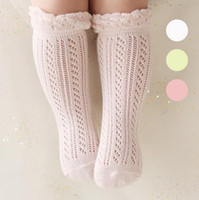 Wholesale Girls Crochet Wear - Baby Girls Cotton crochet Knitted Socks Girls Socks Infant Wear Soft Ankle Knitted Socks free shipping in stock