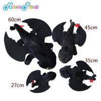 Wholesale toy baby video - 27-60cm How to Train Your Dragon Toys Night Fury Toothless Plush Toys Cartoon Animal Dolls Baby Toys