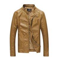 Wholesale Leather Motorcycle Jacket Small - Mens leather suit jacket Slim fit 6XL plus size Suede Jassen Motorcycle chaqueta moto cuero leder jacket men manteau cuir home