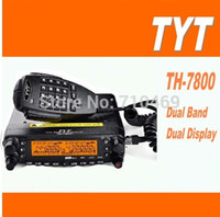 Wholesale Dual Band Radio Car - DHL Freeshipping+2016 New TYT TH-7800 Car Radio Dual-Band VHF UHF 136-174 400-480MHz 50W Mobile Amateur Ham Radio Transceiver