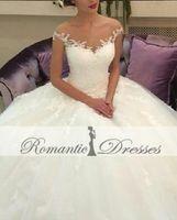 Wholesale China Gowns Online - Vintage Bridal Wedding Dresses Appliques Off The Shoulder Ball Gown Wedding Gown White China Online New Arrival