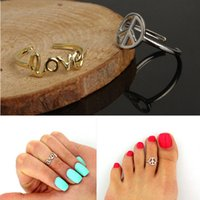 Wholesale Vintage Rings Peace - Alloy Rings Jewelry Fashion Women Vintage Brief Quality Gold Silver Plated Love & Peace Knucle Rings Wholesale Free Shipping SR477