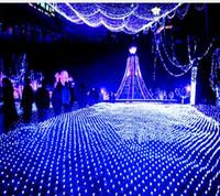 ingrosso finestra di decorazione di natale-3M x2M 210 LED Fata String Xmas Tree Mesh Tenda Casa Soffitto Finestra Parete Luce Netta Festival Di Natale Vacanze Decorazione AC110V-250 V