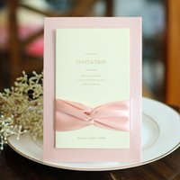 Wholesale House Blank - Vintage Gold Wedding Invitations 2016 High Quality Cheap Elengant Pink Invitation Cards For Party Blank or Custon Inner