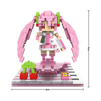 Wholesale Hatsune Miku Sakura Figures - Building Blocks Anime Hatsune Miku Sakura Miku Series Kids Toys Figures Educational Toy for Children Gifts