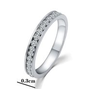 Wholesale Ring Heart Pcs - New Women Full Shining Crystal Rings Fashion Luxury 18k White Gold Plated Finger Ring For Wedding Gifts 1 PC Sold HZ