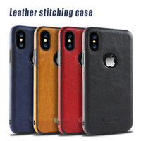 Wholesale stitch phone cases - Phone Cases Leather Case TPU Business Stitching for iPhone 8 Plus iPhone X Samsung Galaxy S6 S7 Edge S8 Plus Note 8 Case