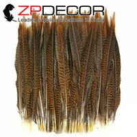 Wholesale 35 Inch Pheasant Feathers - Made in ZPDECOR Factory 35-40cm(14-16 inch) Rare and Precious Natural Golden Pheasant Wedding Decoration Feather