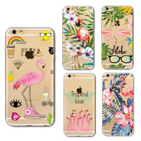 Wholesale Drawing Skin Iphone - New stylish Colored Drawing Cute Cartoon Lovely birds Painting Clear Soft TPU Case For iPhone 6 6S 7 Plus ultrathin Back Cover Skin
