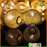 lampe suspension à billes achat en gros de-2M 20 LED 4.5v éclairage intérieur LED Ball String String Transparent Fil De Noël Lumière Fée De Mariage Jardin Pendentif Ampoule
