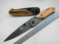 hayatta kalma taktik bıçakları toptan satış-Kelebek DA44 survival Cep katlanır bıçak Ahşap kolu Titanyum finish Bıçak taktik bıçak EDC Cep bıçak bıçaklar