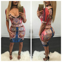 Wholesale Nigth Sexy - 2016 New Fashion Womens Ladies Short Sleeved Bodycon Bandage Dresses Femal Causal Party Dresses Sexy Base Nigth Clubwear Evening Dress